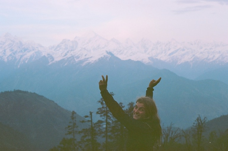 In front of Panchachuli, Uttarakhand, India - Photo: Lily Shiland