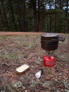 Cooking Dinner - MSR Pocket Rocket